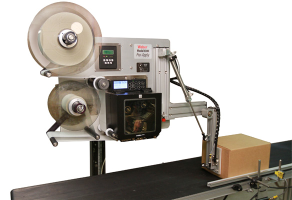 Model 4300 Swing-Tamp Pro-Apply label printer applicator labeling carton