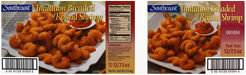 breaded shrimp labels