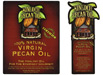 Kinoch pecan oil label
