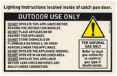 durable caution label