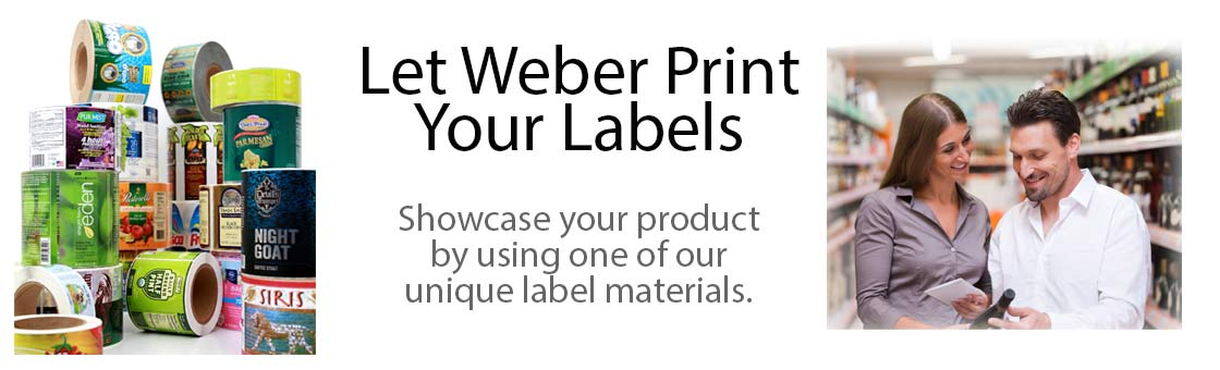 Labels printed by Weber